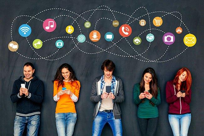 Um terço da população mundial usa redes sociais
