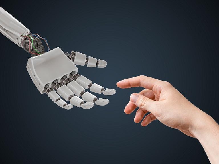 Os robôs, mais perto de terem tato