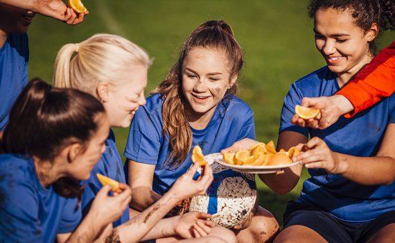 Recomendações de nutrição para jogadores de futebol