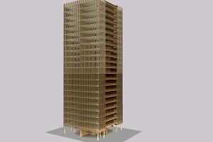 Arquitecto canadiense propone edificios hechos con madera