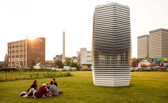 Torre es capaz de eliminar hasta en un 75% la contaminación del aire
