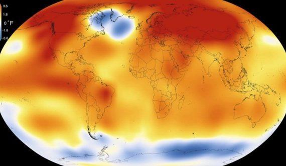 NASA presenta video que resume el avance del calentamiento global en 30 segundos