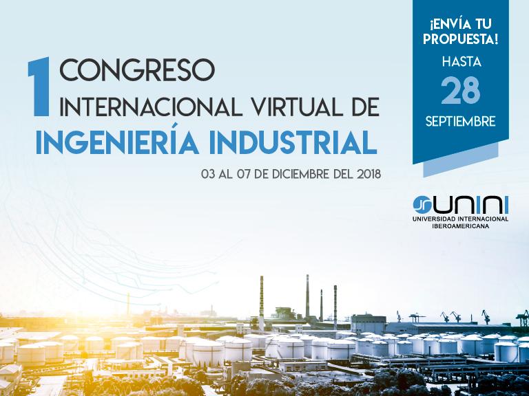 Abierta la convocatoria para participar en el I Congreso Virtual de Ingeniería Industrial