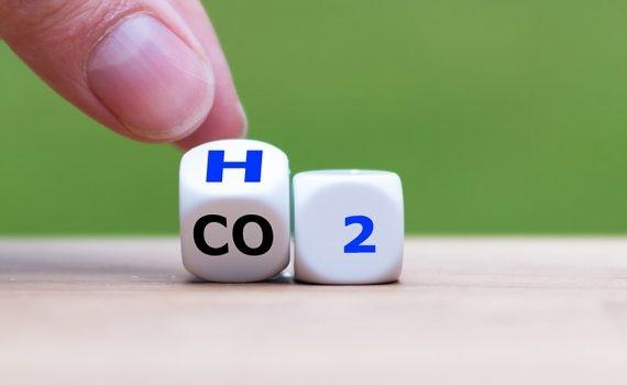 Limpiar dióxido de carbono con hidrógeno