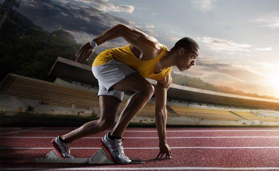 El ejercicio es más fácil cuando puedes concentrarte en la línea de meta